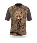 Poľovnícke tričko kr. rukáv Liška 3D b. dub