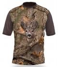 Poľovnícke tričko kr. rukáv Srnec 3D b. Kamufláž