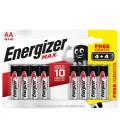 Tužková baterie AA alkalicko-manganová Energizer Max 8ks (blistr)