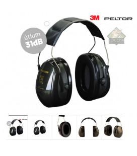Střelecká sluchátka Peltor Optime II, pevný náhl. oblouk