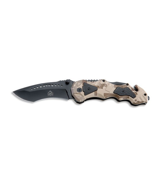 PUMA TEC Einhand-Rettungsmesser (Camouflage Optik)