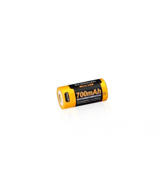 Dobíjecí USB baterie Fenix RCR123A / 16340 High Current (Li-ion)